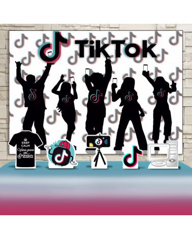 Kit Festa Tik Tok (Prata)