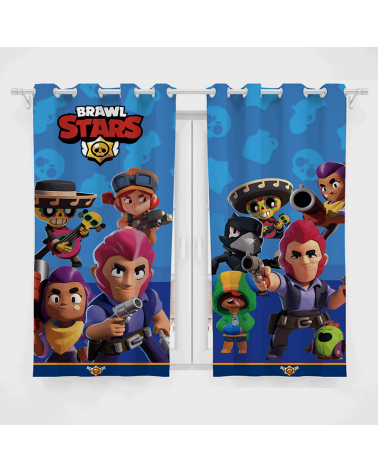 Cortina Decorativa Brawl Stars