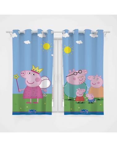 Cortina Decorativa Peppa Pig