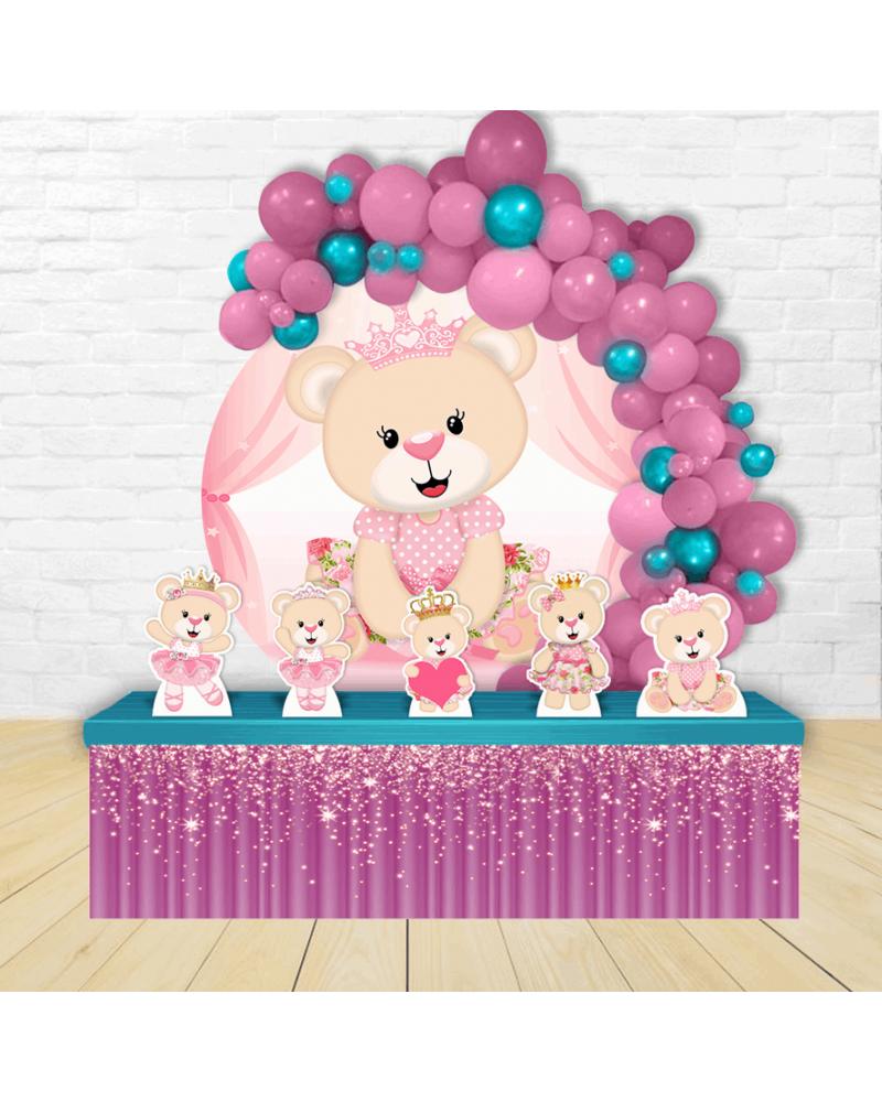 Kit Festa Redondo Ursa Princesa