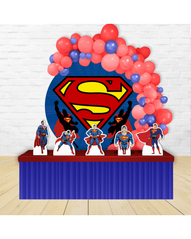 Kit Festa Redondo Superman