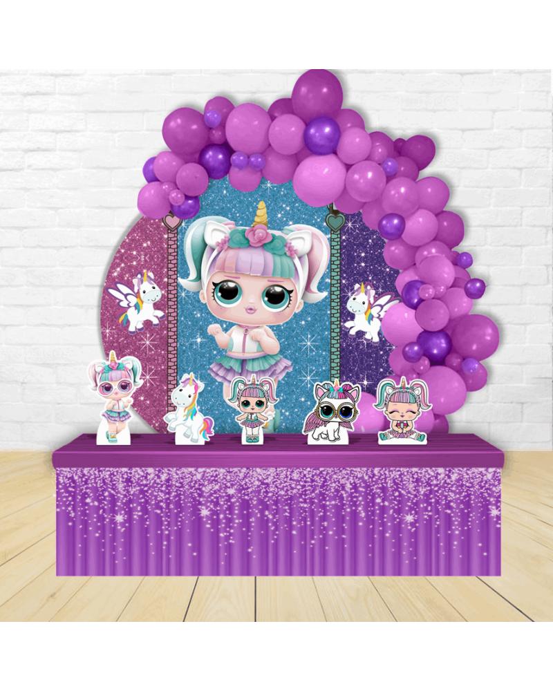 Painel para decoração de festa, com o tema doceria confeitaria