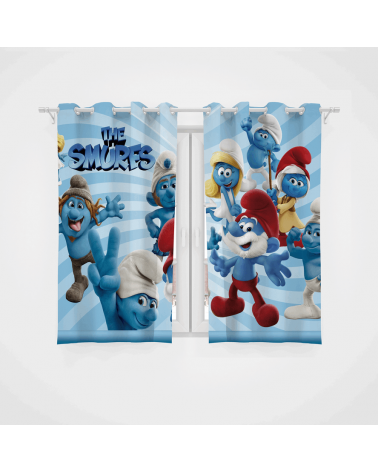 Cortina Decorativa Os Smurfs