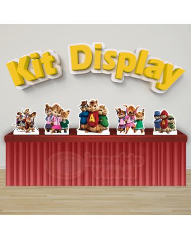 Kit Display Alvin e os...
