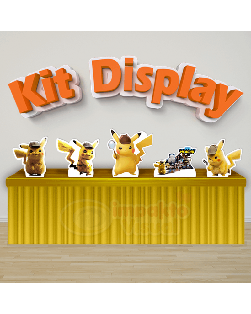 Kit Display Detetive Pikachu