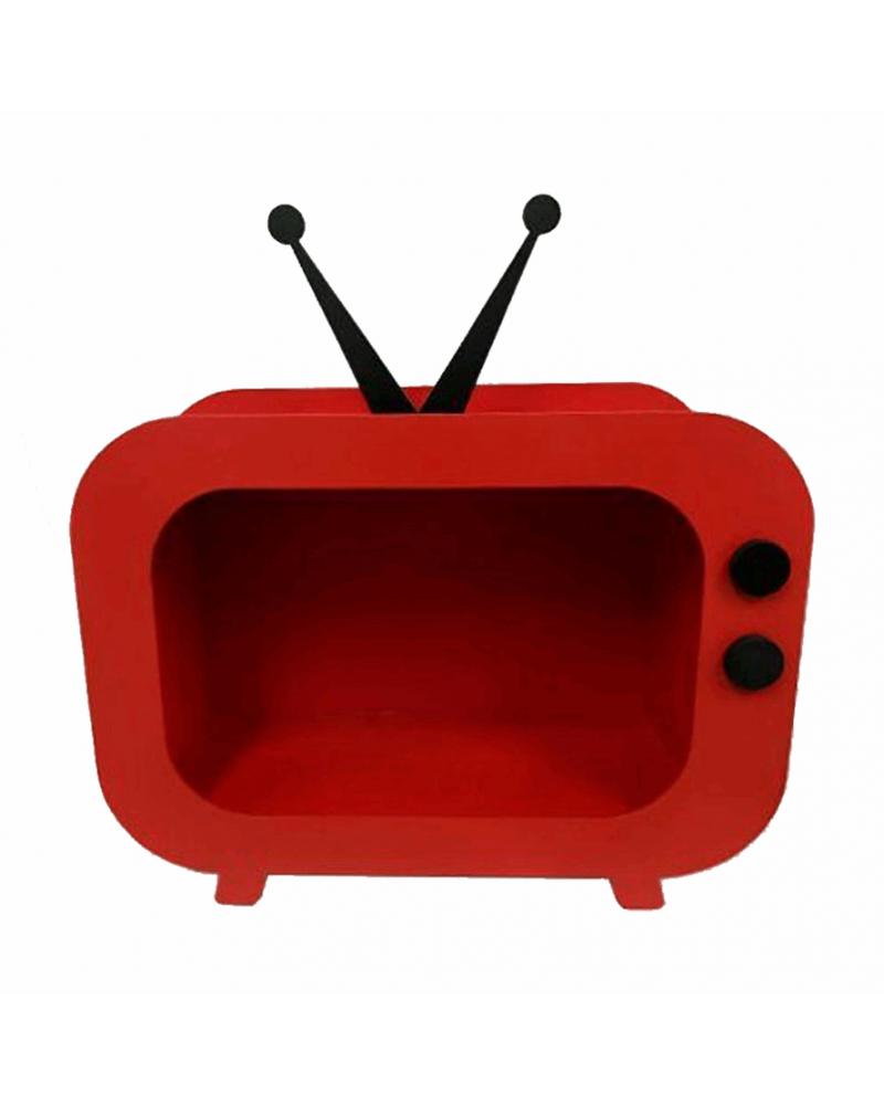 Nicho TV Retrô Vermelho