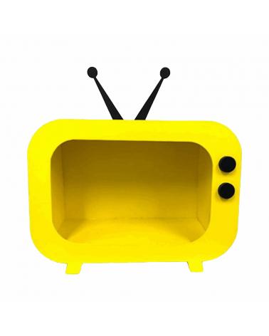 Nicho TV Retrô Amarelo