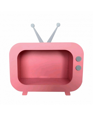 Nicho TV Retrô Rosa