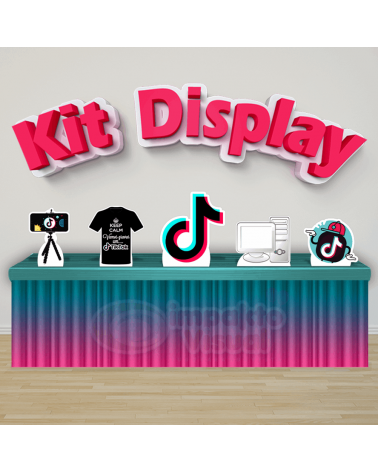 Display para decoração de mesa e chão com o tema Minecraft