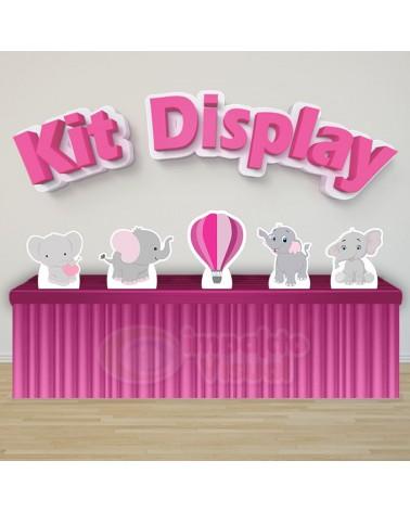 Kit Display Elefantinho Rosa