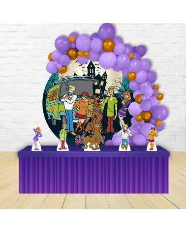 Kit Festa Redondo ScoobyDoo