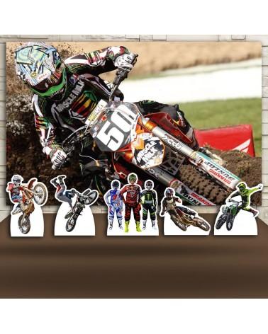Kit Festa Motocross (Prata)
