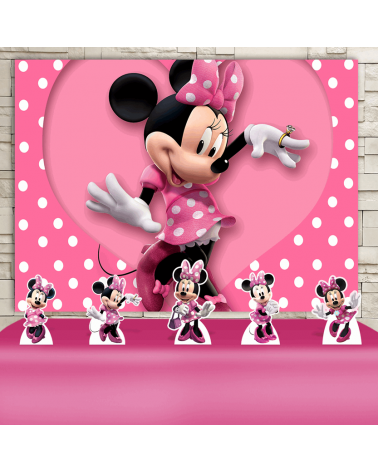Kit Festa Minnie Rosa (Prata)