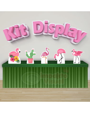 Kit Display Flamingo Rosa