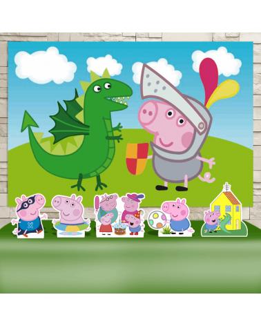 Kit Festa George Pig (Prata)