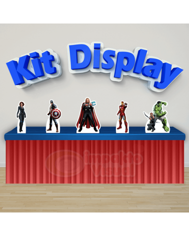 Kit Display Vingadores 1