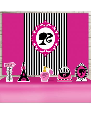 Kit Festa Barbie Paris (Prata)